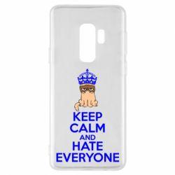Чехол для Samsung S9+ KEEP CALM and HATE EVERYONE - FatLine