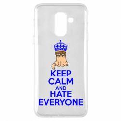 Чехол для Samsung A6+ 2018 KEEP CALM and HATE EVERYONE - FatLine