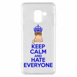 Чехол для Samsung A8 2018 KEEP CALM and HATE EVERYONE - FatLine