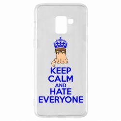 Чехол для Samsung A8+ 2018 KEEP CALM and HATE EVERYONE - FatLine