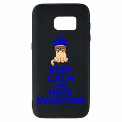 Чехол для Samsung S7 KEEP CALM and HATE EVERYONE - FatLine