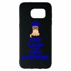Чехол для Samsung S7 EDGE KEEP CALM and HATE EVERYONE - FatLine
