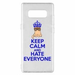Чехол для Samsung Note 8 KEEP CALM and HATE EVERYONE - FatLine