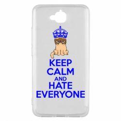 Чехол для Huawei Y6 Pro KEEP CALM and HATE EVERYONE - FatLine