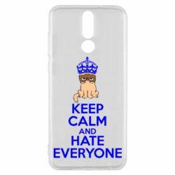 Чехол для Huawei Mate 10 Lite KEEP CALM and HATE EVERYONE - FatLine