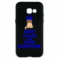Чехол для Samsung A5 2017 KEEP CALM and HATE EVERYONE - FatLine