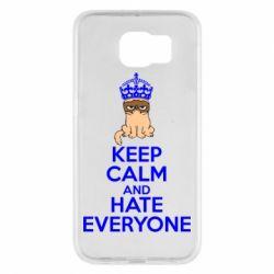 Чехол для Samsung S6 KEEP CALM and HATE EVERYONE - FatLine