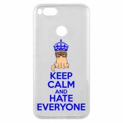 Чехол для Xiaomi Mi A1 KEEP CALM and HATE EVERYONE - FatLine