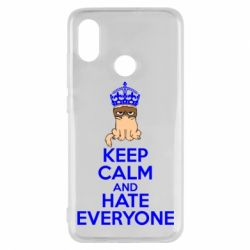 Чехол для Xiaomi Mi8 KEEP CALM and HATE EVERYONE - FatLine