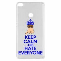 Чехол для Xiaomi Mi Max 2 KEEP CALM and HATE EVERYONE - FatLine