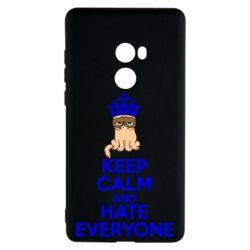 Чехол для Xiaomi Mi Mix 2 KEEP CALM and HATE EVERYONE - FatLine