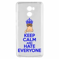 Чехол для Xiaomi Redmi 4 KEEP CALM and HATE EVERYONE - FatLine