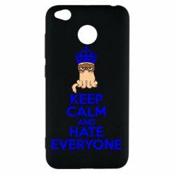 Чехол для Xiaomi Redmi 4x KEEP CALM and HATE EVERYONE - FatLine