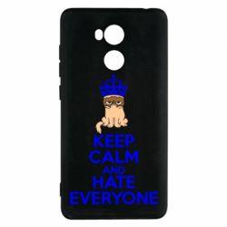 Чехол для Xiaomi Redmi 4 Pro/Prime KEEP CALM and HATE EVERYONE - FatLine