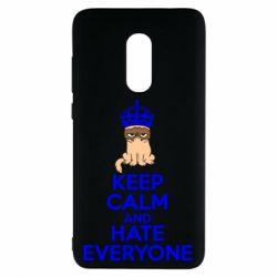 Чехол для Xiaomi Redmi Note 4 KEEP CALM and HATE EVERYONE - FatLine