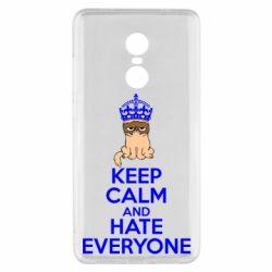 Чехол для Xiaomi Redmi Note 4x KEEP CALM and HATE EVERYONE - FatLine