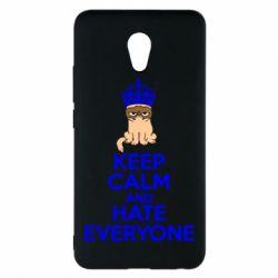 Чехол для Meizu M5 Note KEEP CALM and HATE EVERYONE - FatLine