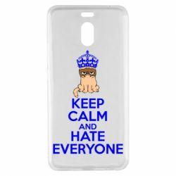 Чехол для Meizu M6 Note KEEP CALM and HATE EVERYONE - FatLine