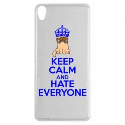Чехол для Sony Xperia XA KEEP CALM and HATE EVERYONE - FatLine
