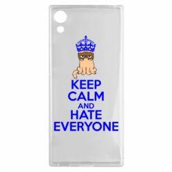 Чехол для Sony Xperia XA1 KEEP CALM and HATE EVERYONE - FatLine
