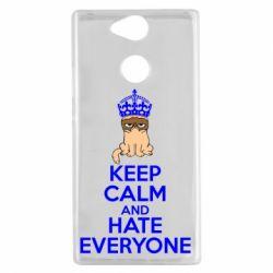 Чехол для Sony Xperia XA2 KEEP CALM and HATE EVERYONE - FatLine