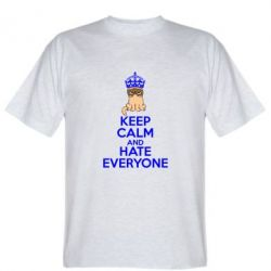 Мужская футболка KEEP CALM and HATE EVERYONE - FatLine