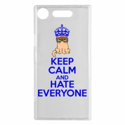 Чехол для Sony Xperia XZ1 KEEP CALM and HATE EVERYONE - FatLine