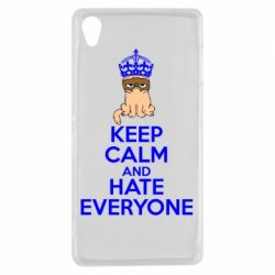 Чехол для Sony Xperia Z3 KEEP CALM and HATE EVERYONE - FatLine