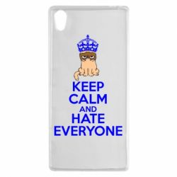 Чехол для Sony Xperia Z5 KEEP CALM and HATE EVERYONE - FatLine