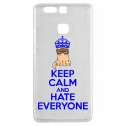 Чехол для Huawei P9 KEEP CALM and HATE EVERYONE - FatLine