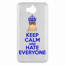 Чехол для Huawei Y5 2017 KEEP CALM and HATE EVERYONE - FatLine