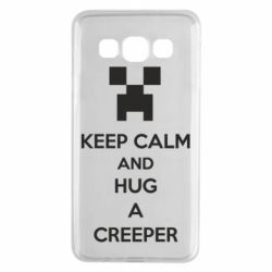 Чехол для Samsung A3 2015 KEEP CALM and HUG A CREEPER