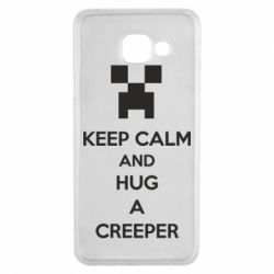 Чехол для Samsung A3 2016 KEEP CALM and HUG A CREEPER