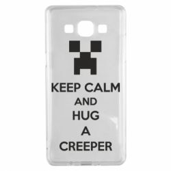 Чехол для Samsung A5 2015 KEEP CALM and HUG A CREEPER
