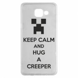 Чехол для Samsung A5 2016 KEEP CALM and HUG A CREEPER