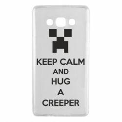 Чехол для Samsung A7 2015 KEEP CALM and HUG A CREEPER