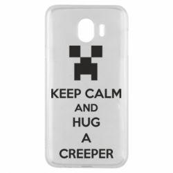 Чехол для Samsung J4 KEEP CALM and HUG A CREEPER