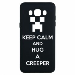 Чехол для Samsung J7 2016 KEEP CALM and HUG A CREEPER
