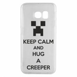 Чехол для Samsung S6 EDGE KEEP CALM and HUG A CREEPER