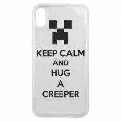 Чехол для iPhone Xs Max KEEP CALM and HUG A CREEPER