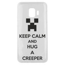Чехол для Samsung J2 Core KEEP CALM and HUG A CREEPER