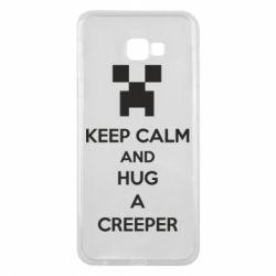 Чехол для Samsung J4 Plus 2018 KEEP CALM and HUG A CREEPER