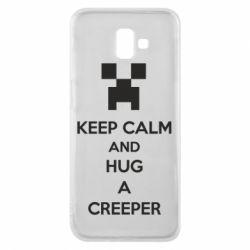 Чехол для Samsung J6 Plus 2018 KEEP CALM and HUG A CREEPER