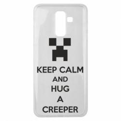 Чехол для Samsung J8 2018 KEEP CALM and HUG A CREEPER