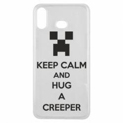 Чехол для Samsung A6s KEEP CALM and HUG A CREEPER