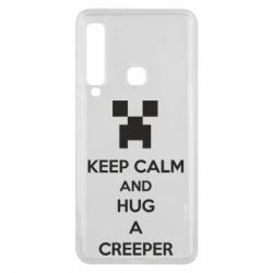 Чехол для Samsung A9 2018 KEEP CALM and HUG A CREEPER