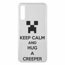 Чехол для Samsung A7 2018 KEEP CALM and HUG A CREEPER