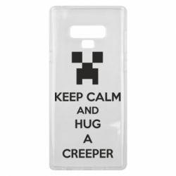 Чехол для Samsung Note 9 KEEP CALM and HUG A CREEPER
