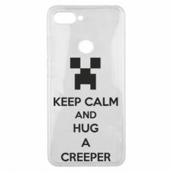 Чехол для Xiaomi Mi8 Lite KEEP CALM and HUG A CREEPER