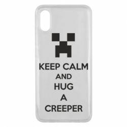 Чехол для Xiaomi Mi8 Pro KEEP CALM and HUG A CREEPER